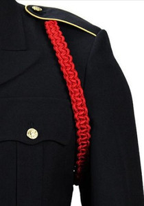 Army Shoulder Cord: 2723 Interwoven Scarlet Red – thick