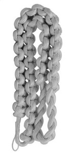 Army Shoulder Cord: 2723 Interwoven Silver – thick