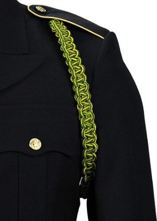 Army Shoulder Cord: Military Police - green and yellow