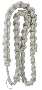 Army Shoulder Cord: 2723 Interwoven White – thick
