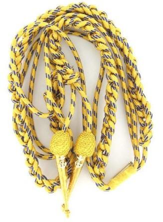Navy Dress Aiguillette: synthetic gold