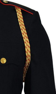 Marine Corps Service Aiguillette - 3 strand gold and red