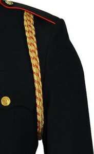 Marine Corps Service Aiguillette - 4 strand gold and red