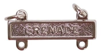 Army Qualification Bar: Grenade - mirror finish