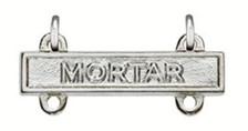 Army Qualification Bar: Mortar - mirror finish