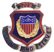 Army Corps Crest: Adjutant General - Defend and Serve 1775- each