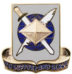 Army Corps Crest: Finance - To Support and Serve- each