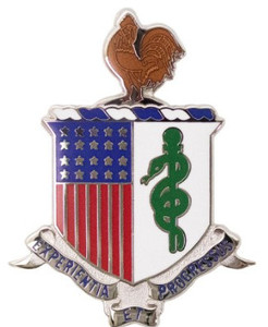 Army Corps Crest: Medical Department - Experientia Et Progressus- each