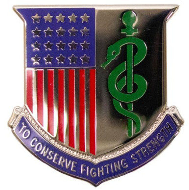 Army Corps Crest: Medical Department - To Conserve Fighting Strength- each