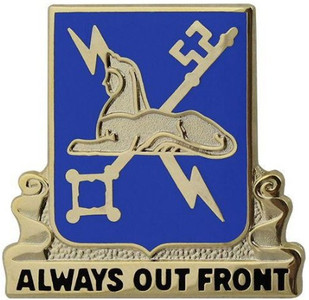Army Corps Crest: Military Intelligence - Always Out Front- each