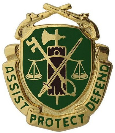 Army Corps Crest: Military Police - Assist Protect Defend- each
