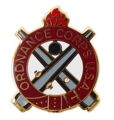 Army Corps Crest: Ordnance - Ordnance Corps U.S.A.- each