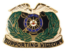 Army Corps Crest: Quartermaster - Supporting Victory- each