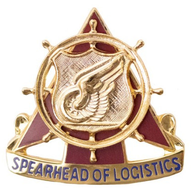 Army Corps Crest: Transportation - Spearhead of Logistic- each
