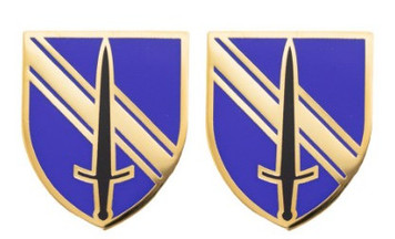 Army Crest 1st Security Force Assistance Brigade no motto- pair