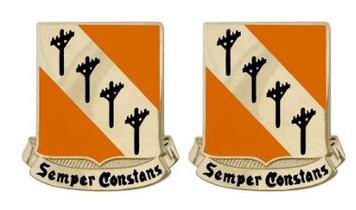 Army Crest 51st Signal Battalion: Semper Constans- pair
