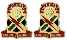 Army Crest: 108th Air Defense Artillery - Deeds Above Words- pair