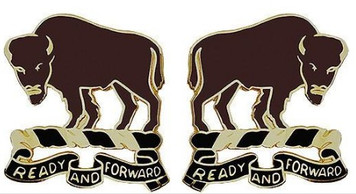 Army Crest: 10th Cavalry Regiment - Ready and Forward- pair