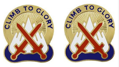 Army Crest: 10th Mountain Division - Climb to Glory- pair