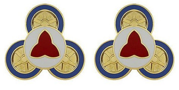 Army Crest: 112th Transportation Battalion- pair
