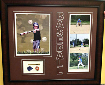 3-D Baseball Frame Display
