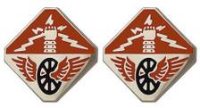 Army Crest: 124th Signal Battalion- pair