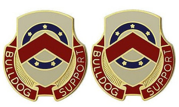 Army Crest: 125th Support Battalion - Bulldog Support- pair