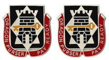 Army Crest: 126th Finance Battalion - Dragon Purser Pay Read- pair
