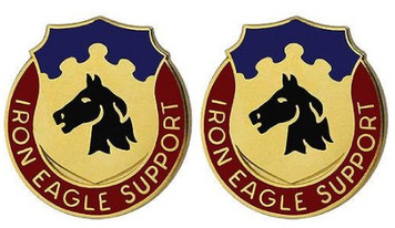 Army Crest: 127th Support Battalion - Iron Eagle Support