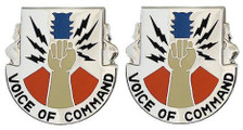 Army Crest: 13Th Signal Battalion - Voice of Command- pair