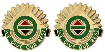 Army Crest: 14th Military Police Brigade - We Give Our Best- pair