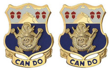 Army Crest: 15th Infantry Regiment - Can Do- pair