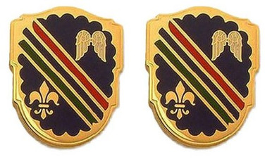 Army Crest: 160th Infantry Regiment: California Army National Guard- pair