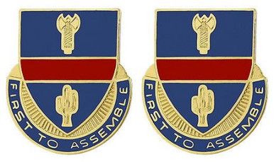Army Crest: 162nd Infantry (ARNG OR) - First to Assemble- pair