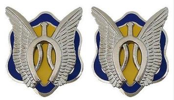 Army Crest: 17th Cavalry Regiment- pair