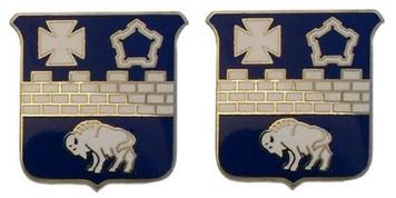 Army Crest: 17th Infantry Regiment- pair