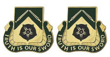 Army Crest: 19th Military Police Battalion - Trust is Our Sword- pair