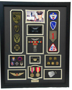 CW2 Army Display Shadow Box