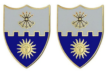 Army Crest: 22nd Infantry- pair
