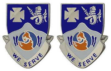 Army Crest: 23rd Infantry Regiment - We Serve- pair