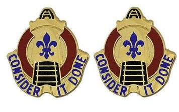 Army Crest: 25th Transportation Battalion - Consider It Done- pair