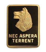 Army Crest: 27th Infantry Regiment - Nec Aspera Terrent, left side-each