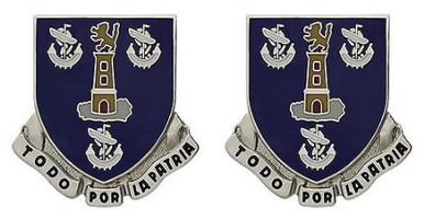 Army Crest: 295th Infantry Regiment - Todo Por La Patria- pair