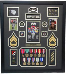 United States Army Shadow Box Display