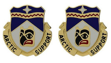 Army Crest: 297th Support Battalion - Arctic Support- pair