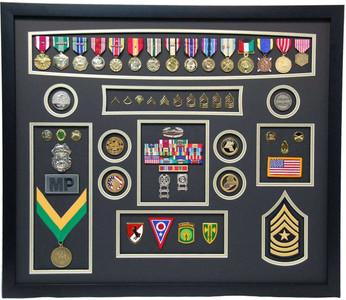 United States Army Military Police Shadow Box Display