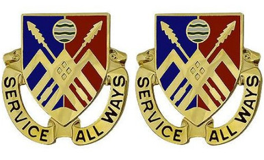 Army Crest: 29th Support Battalion - Serve All Ways- pair