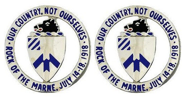 Army Crest: 30th Infantry Regiment- pair