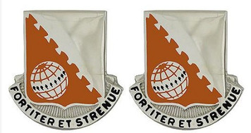 Army Crest: 30th Signal Battalion - Fortiter Et Strenve- pair