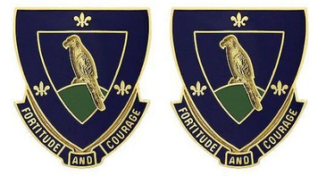 Army Crest: 314th Regiment - Fortitude and Courage- pair